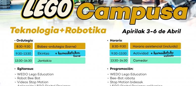 SUSPENDIDO – Campus de Semana Santa LEGO de Tecnología y Robótica